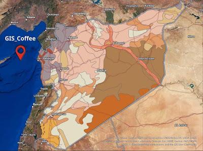 شيب فايل تكوينات التربة لدولة سوريا