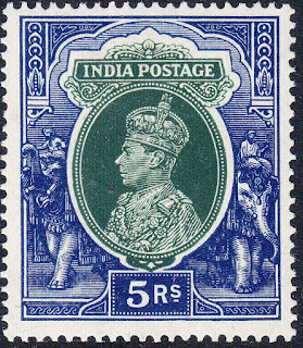 India George VI 1937 5rs