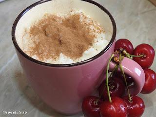 Orez cu lapte si cirese reteta desert dulce de casa cu zahar vanilie lamaie scortisoara fructe retete deserturi mancare copii mosii de vara,