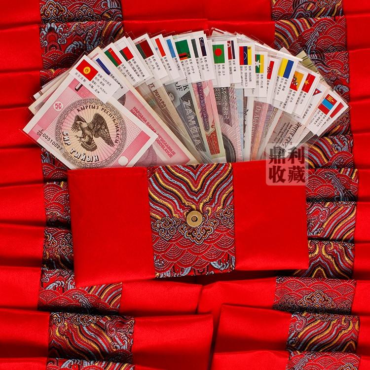 340k - Bộ Tiền Thật 22 Nước Trên Thế Giới vỏ lụa đỏ giá sỉ và lẻ rẻ nhất