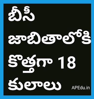 18 new castes on BC list