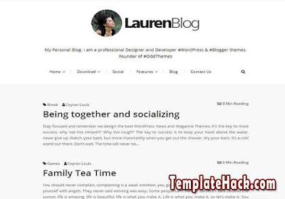 lauren blog blogger template