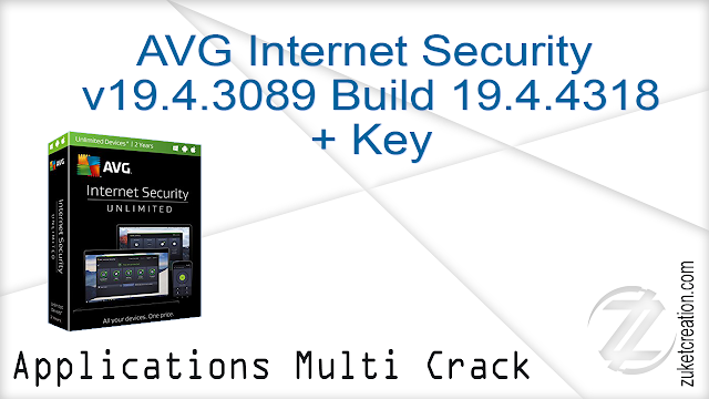 AVG Internet Security version 19.4.3089 Build 19.4.4318.439 + Key
