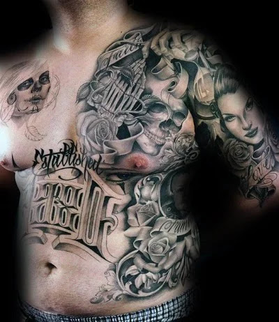 Chicano Style Gangster Tattoo