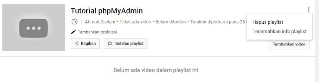 Cara Menghapus Playlist Video Youtube
