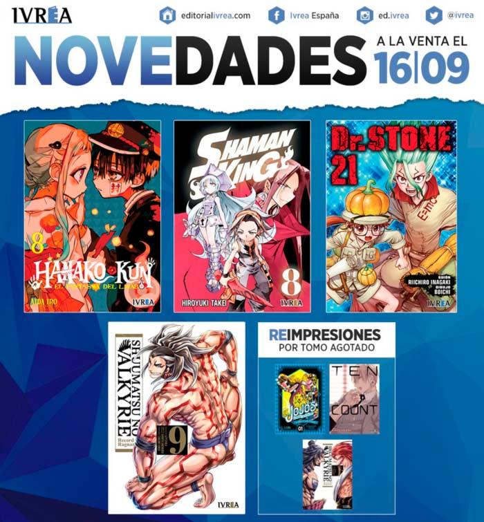 Novedades Ivrea 16 de septiembre 2021 - manga