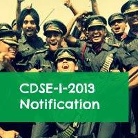 CDSE I 2013 Notification 2013