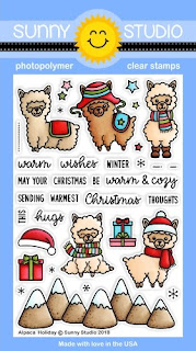 Sunny Studio Stamps: Alpaca Holiday 4x6 Clear Photopolymer Stamps