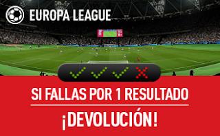 sportium reembolso combinada Europa League 20 abril