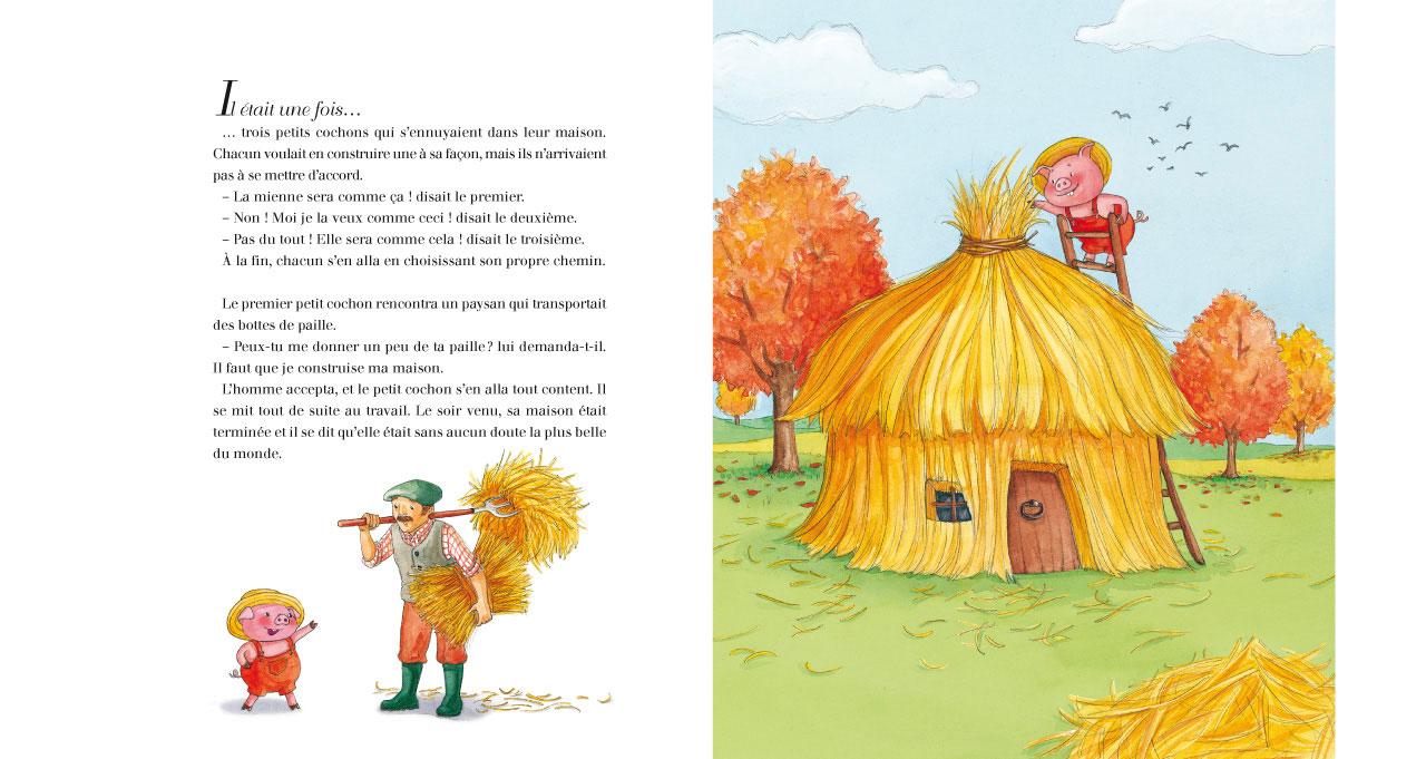 Pause lecture avec kikine pitchounette et ses livres les - Dessin des 3 petit cochon ...