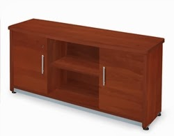 Cherry finished storage credenza