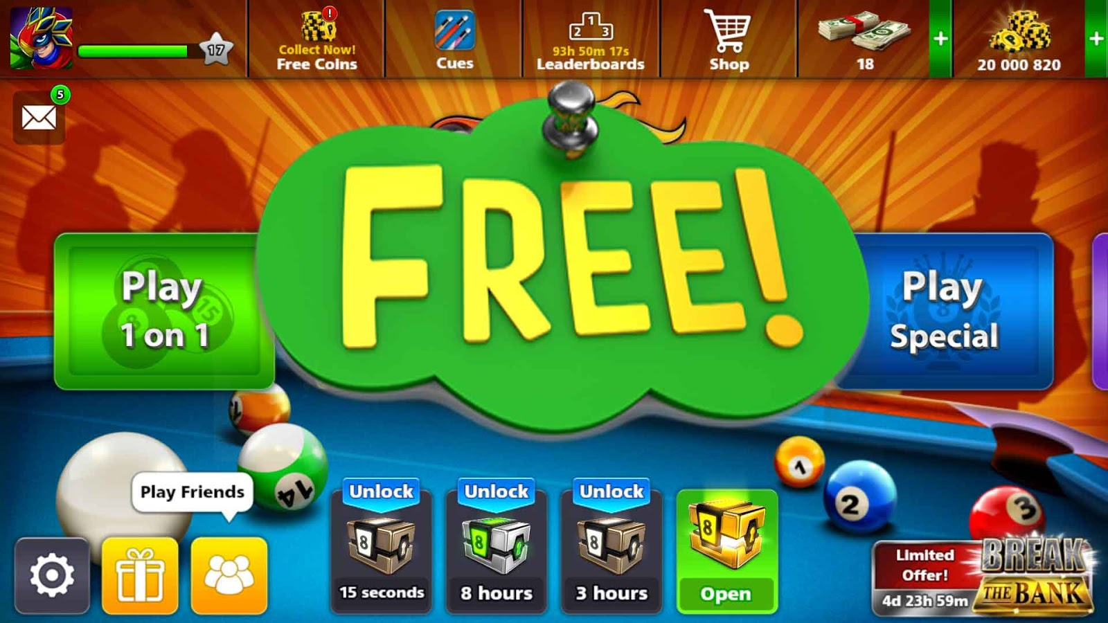 Cash Pool Pro Accounts 20 Million Coins 8bp Free Pro 8 Ball Pool