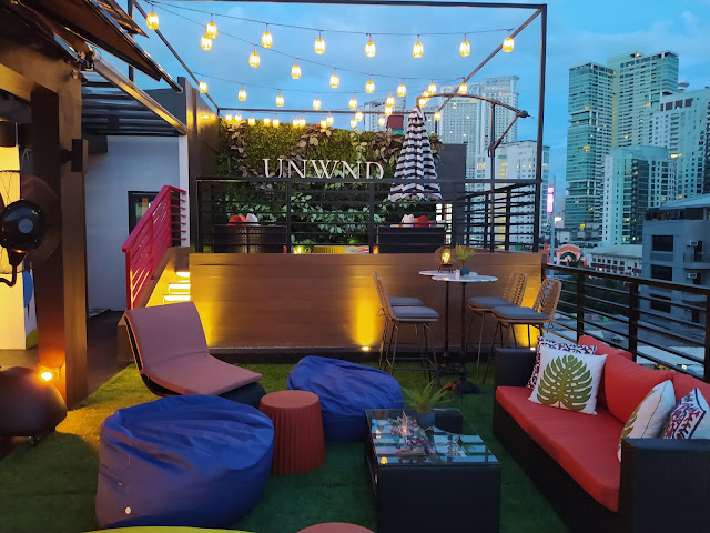 UNWND Hostel's rooftop area