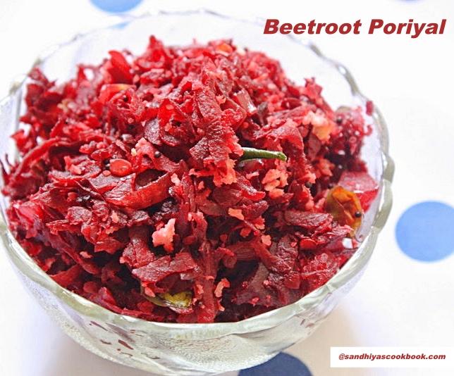Grated Beetroot Poriyal