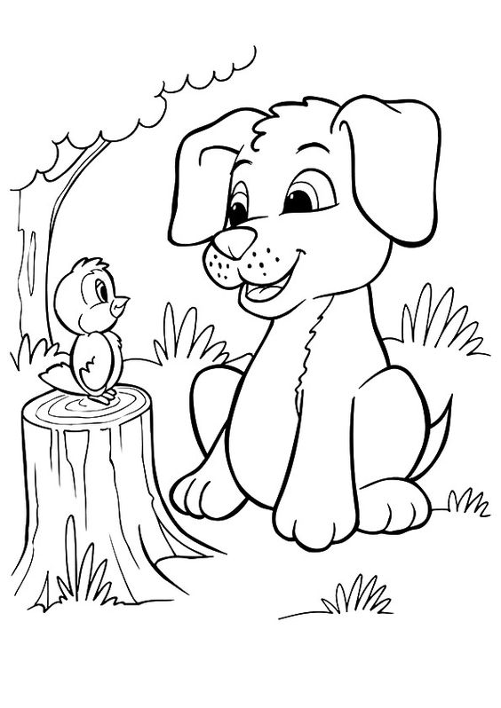 Dogs coloring pages 10