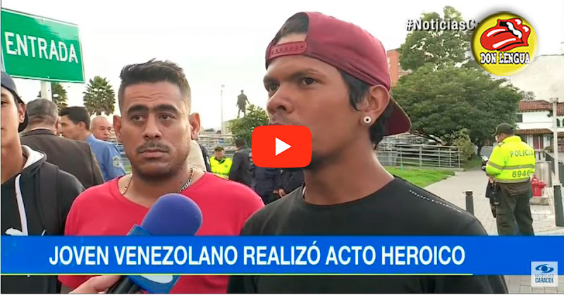 Por Fin : Un venezolano atrapó a dos delincuentes en Colombia y se convirtió en el héroe