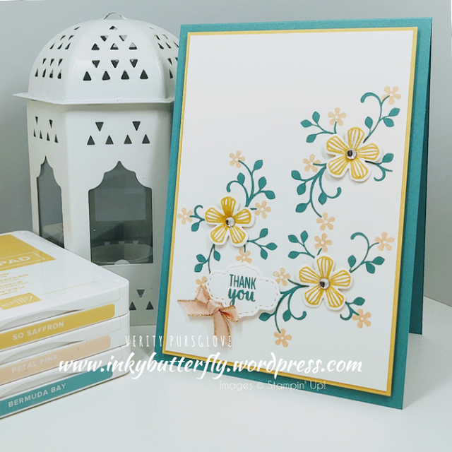 Thoughtful Blooms and Small Bloom punch Stampin Up