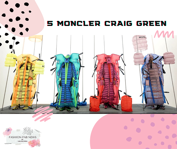 yellow jacket outfit blue outfit red outfit pink blue outfit made of lighweight nylon by MONCLER