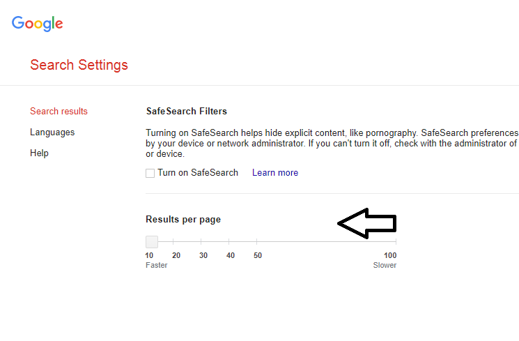 Increase the Search Results on one page