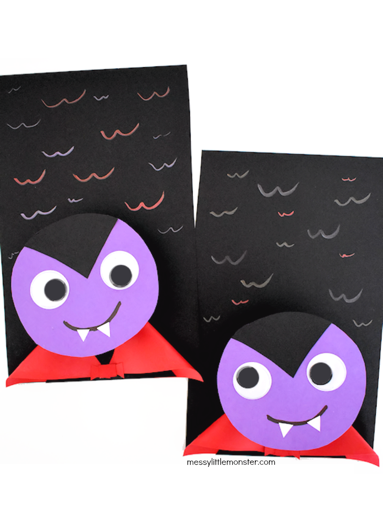 bobble head vampire craft for kids
