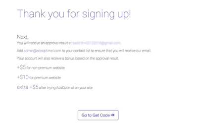 success signup