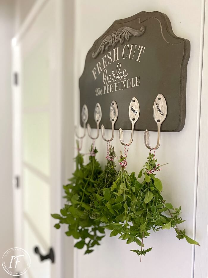 Repurposed Herb Drying Rack