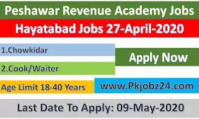 Jobs in Peshawar Revenue Academy April 2020