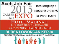Aceh Jobfair Career Job Expo 3-4 Desember 2015 aceh
