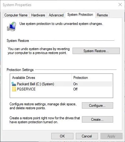 مساحة القرص Windows 8