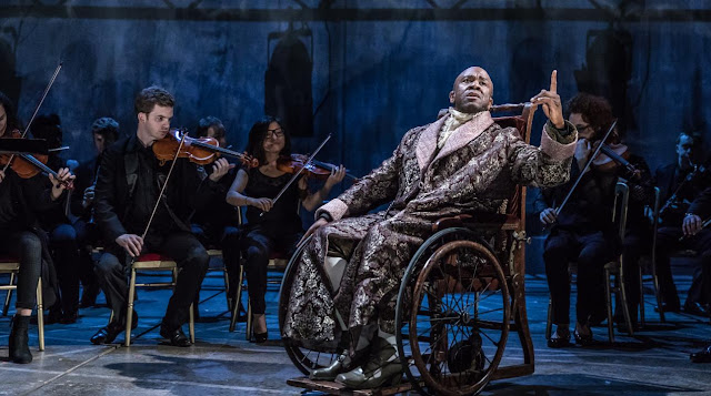 Lucian Msamati and Southbank Sinfonia - Peter Schaffer's Amadeus - National Theatre - photo Marc Brenner