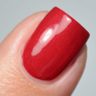 red shimmer nail polish
