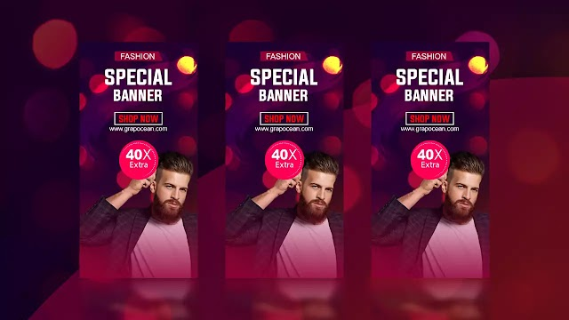 How To Make Professional Animated Gif Banner - Adobe Photoshop Tutorial