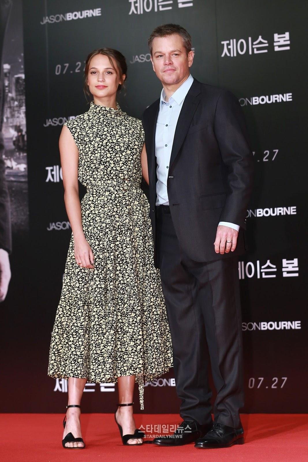 HQ Photos of Alicia Vikander At Jason Bourne Photocall In Seoul