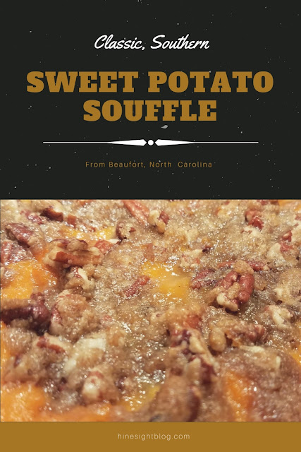 Sweet Potato Souffle dish that is perfect for the holidays. #Holidays #SideDishes #SweetPotatoes