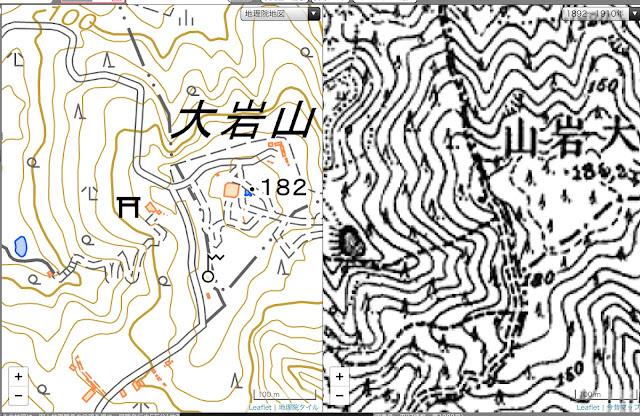 #大岩神社 #大岩山 #古地図