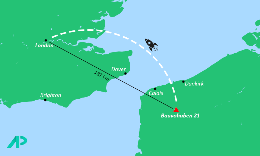 Map showing the location of Bauvohaben 21