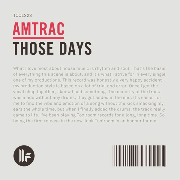 those days amtrack toolroom records album art