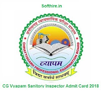 CG Vyapam Sanitory Inspector Admit Card