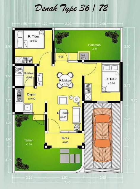 Gambar Rumah Minimalis Type 36 - Gambar.photo