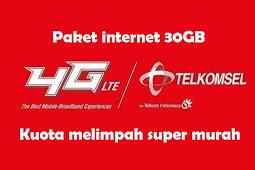 Trik Paket Internet Telkomsel 30GB Rp 30000 Terbaru