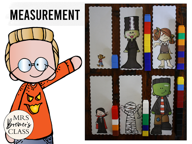 Kindergarten Halloween Activity Centers with Math and Literacy Activities that are Common Core aligned