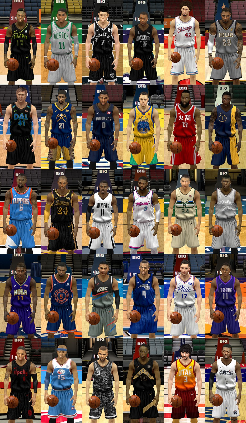 0369403f9b37 ... coupon for nba 2k14 nba nike city edition jerseys 17 18 by pep released  6f559 528ff