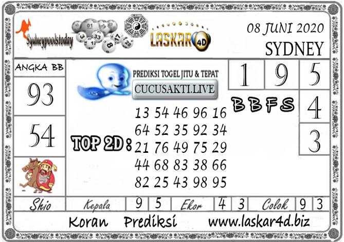 Prediksi Togel SYDNEY LASKAR4D 08 JUNI 2020