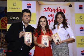 Sonakshi Sinha Karan Johar at Aishwarya Rajinikanth Standing on an Apple Box Book Launch Event  0066.jpg