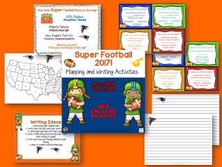 Super Bowl 2017 Freebie! Mapping and Writing resource featuring this year's teams and location!