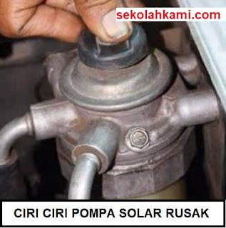 ciri ciri pompa solar rusak
