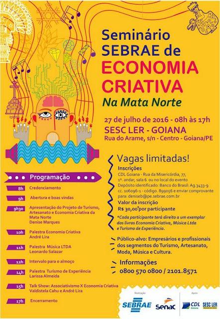 Economia Criativa: Sebrae discute a criatividade nos negócios em Goiana