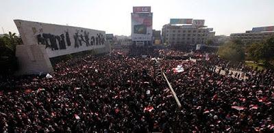 عاجل.. الأمن العراقى يخلى ساحة التحرير في بغداد بالقوة