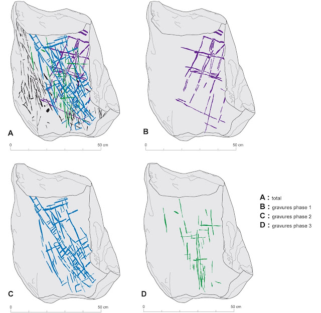 Megaliths with geometrical engravings found in France