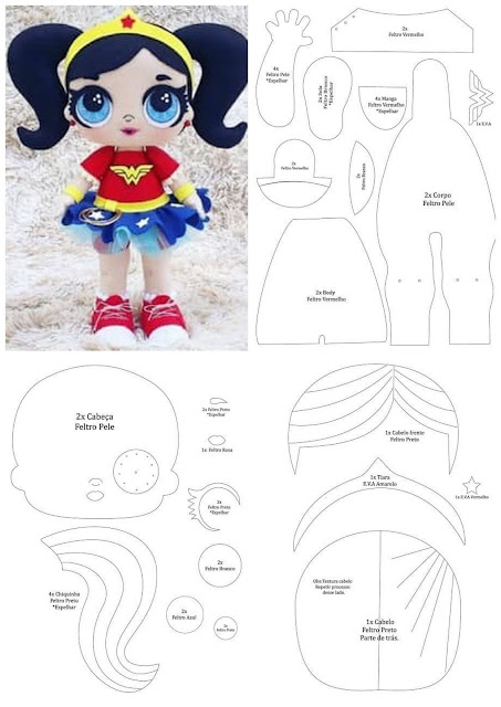 Wonder Woman Baby Free Template